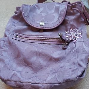 Purple Coach Backpack